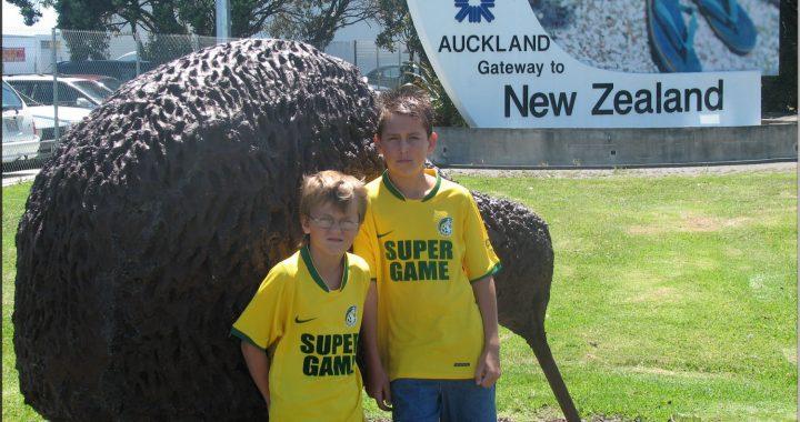 Geel-groene Fortuna vakantie-groeten uit Australie