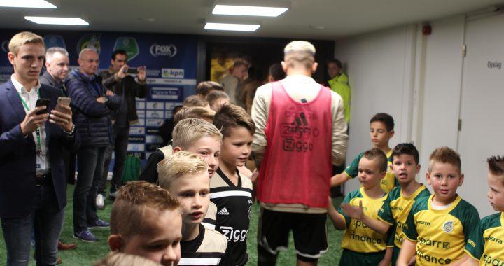 De kids beleving bij Fortuna Sittard tegen Ajax Amsterdam