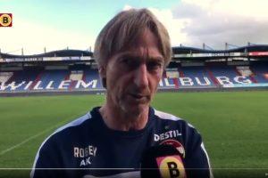 Willem II-trainer Adrie Koster: 'verwacht twee voetballende ploegen'