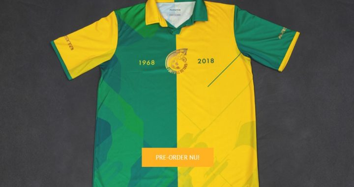 Update jubileumshirts: pre-order uitverkocht