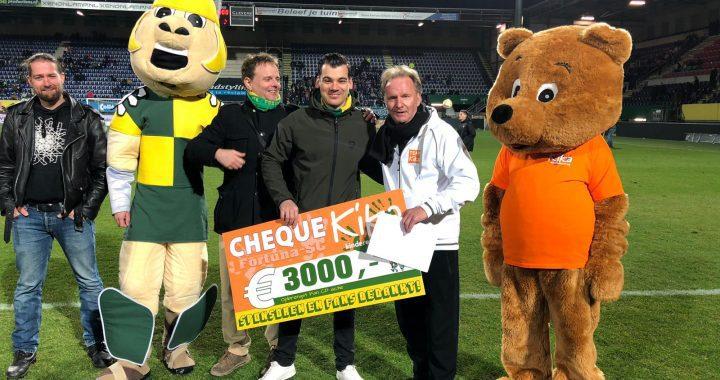 Fans en Sponsoren halen 3000 euro voor Kika op