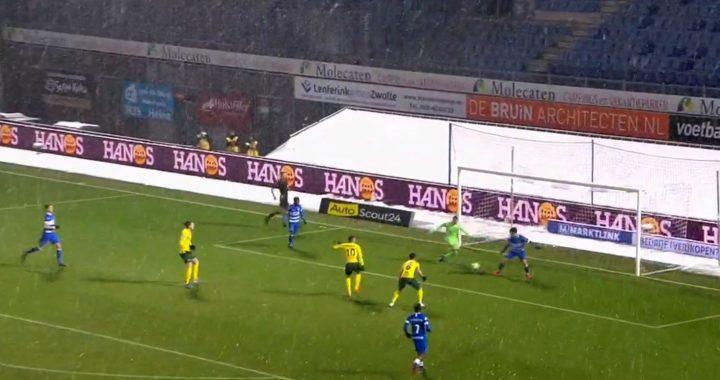 Fortuna wint overtuigend van Pec Zwolle : 0-2